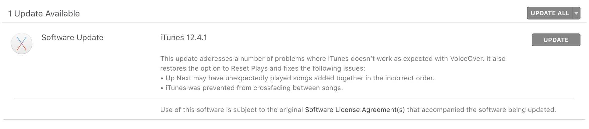 iTunes 12.4.1 update Mac App Store
