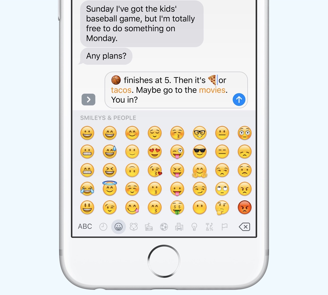 ios 10 messages tap to replace emojis