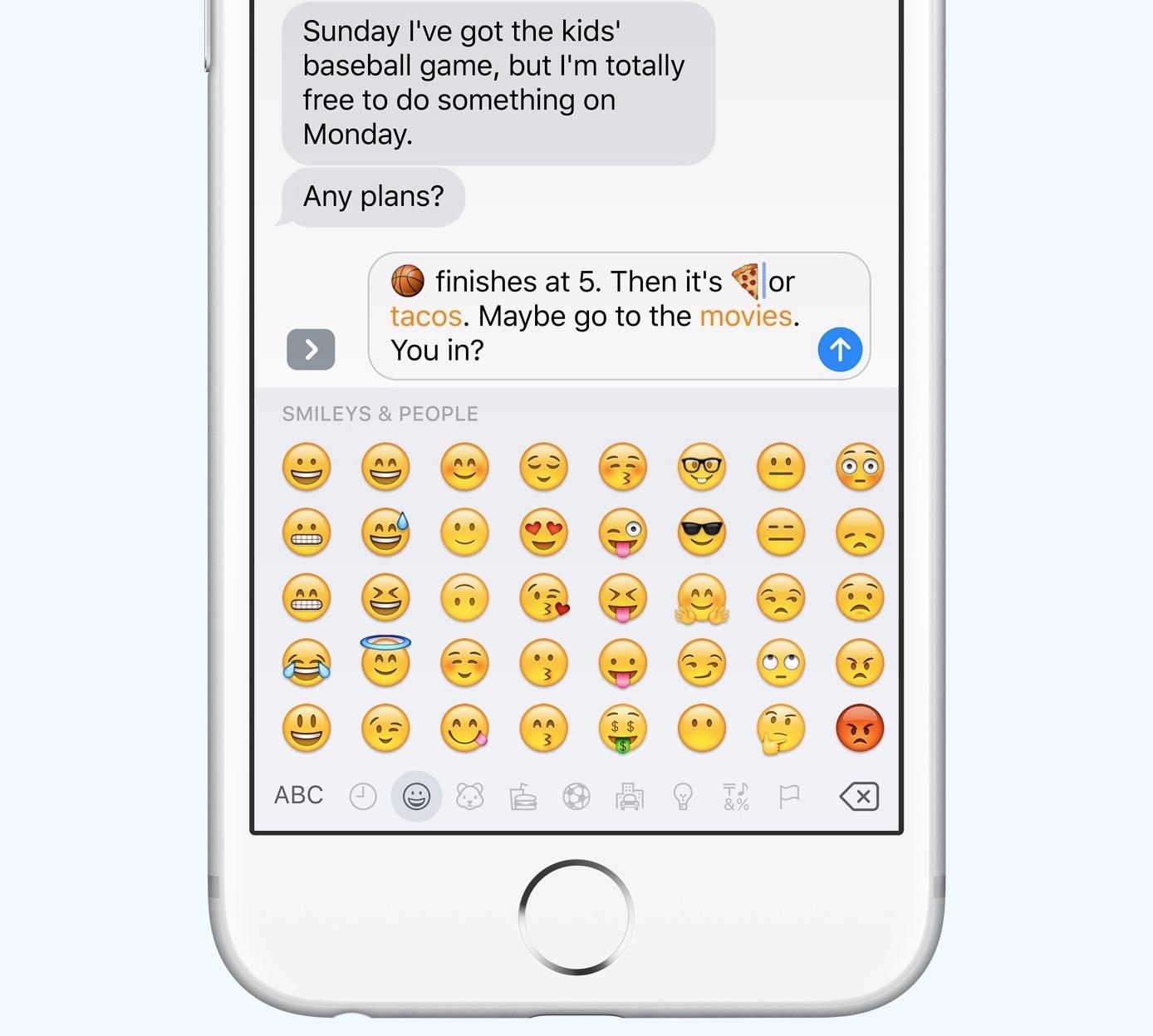 ios 10 mensajes toque para reemplazar emojis