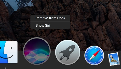 macOS Sierra Siri in Dock Mac screenshot 001