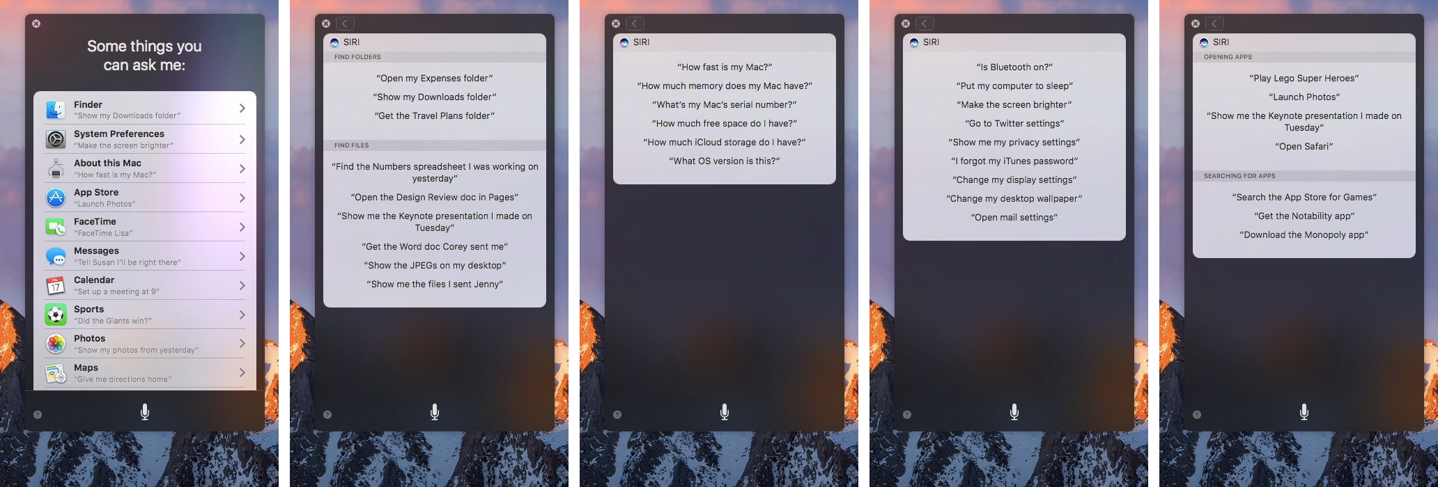 macOS Sierra Siri things you can ask Mac screenshot 007