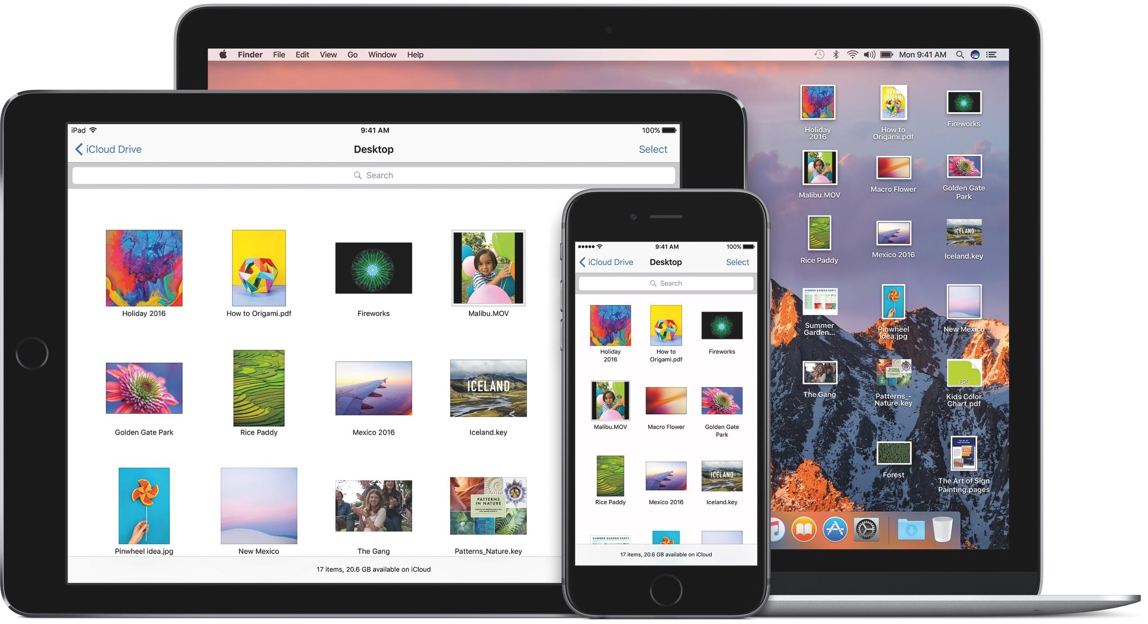 macOS Sierra iCloud Drive iPhone iPad Mac image 001
