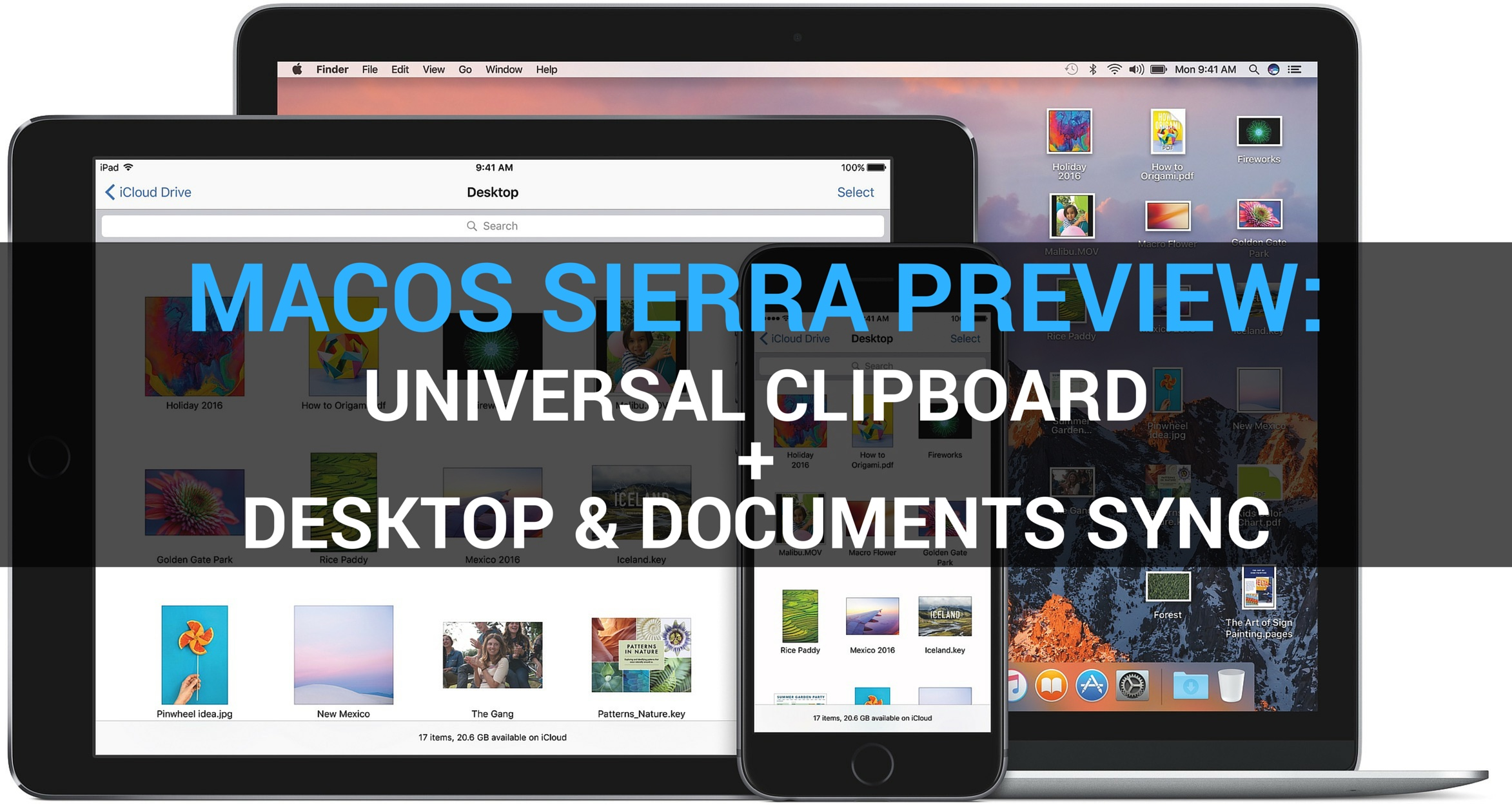 macOS Sierra preview universal clipboard shared desktop teaser 001