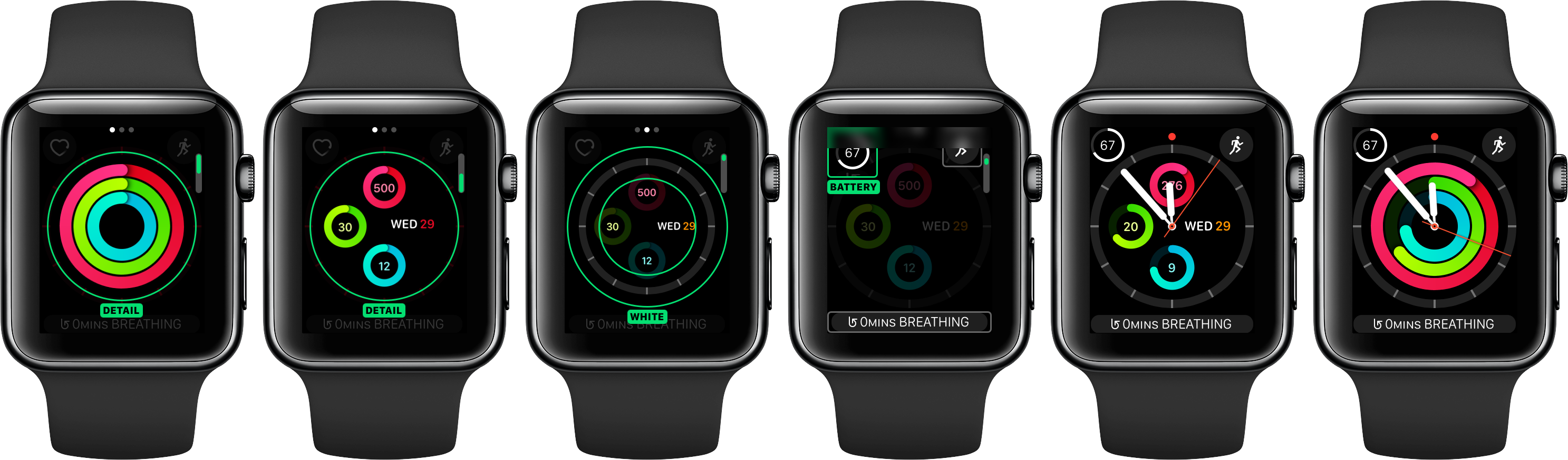watchOS 3 faces Activity analog space gray Apple Watch screenshot 001