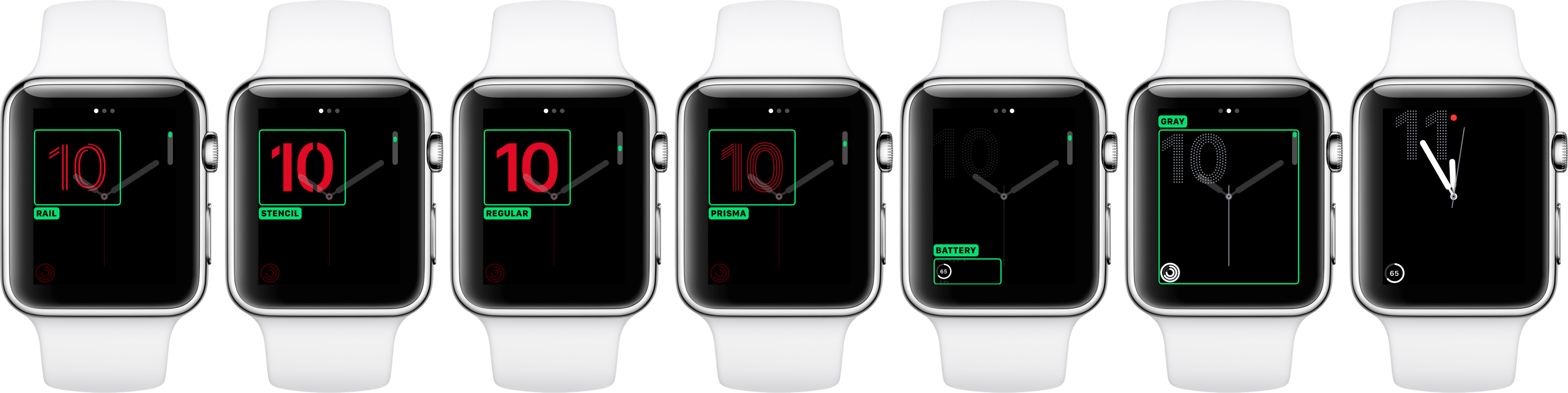 watchOS 3 faces Numerals silver Apple Watch screenshot 001
