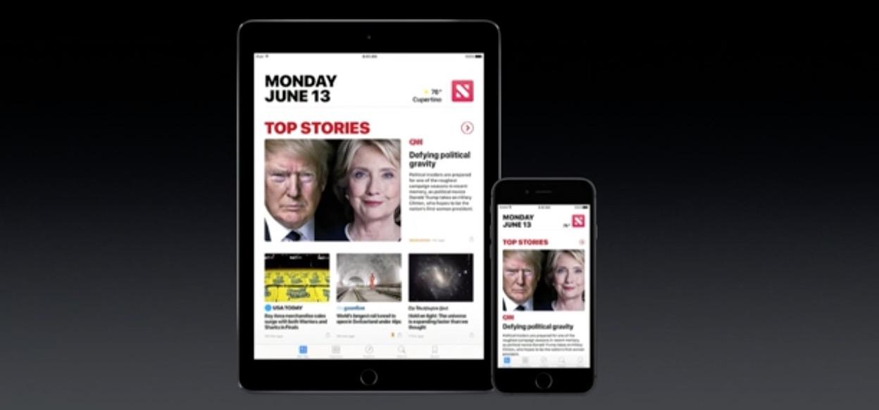 wwdc 2016 News redesign