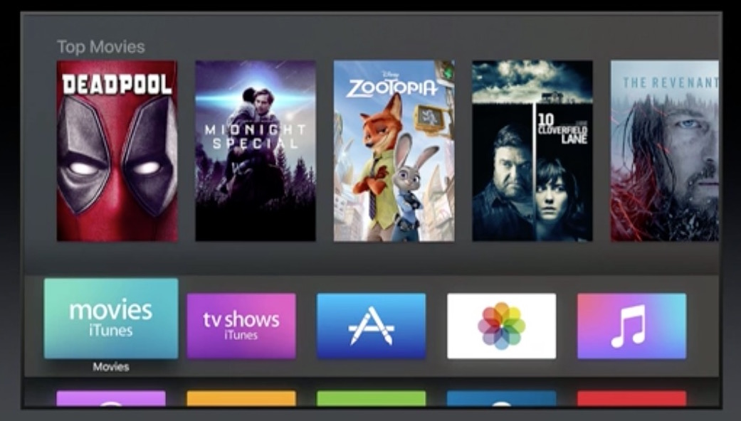 wwdc 2016 apple tv dark mode