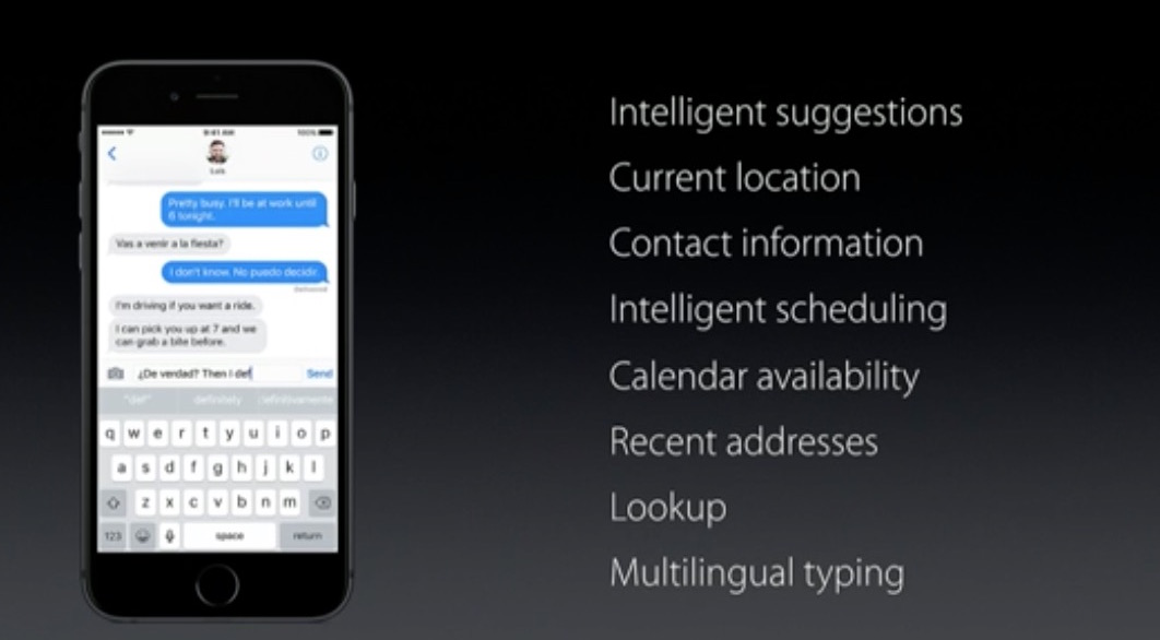 wwdc 2016 ios 10 siri quicktype intelligence