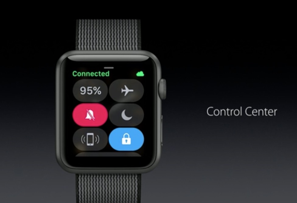 wwdc 2016 watch control center