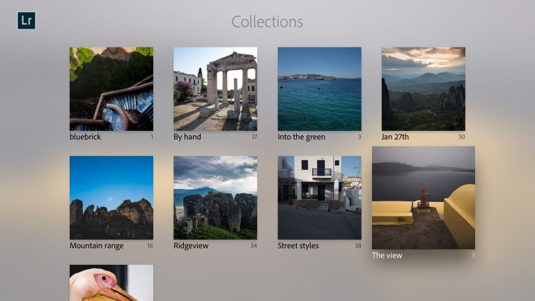 Captura de pantalla 001 de ADobe Lightroom para tvOS Collections Apple TV