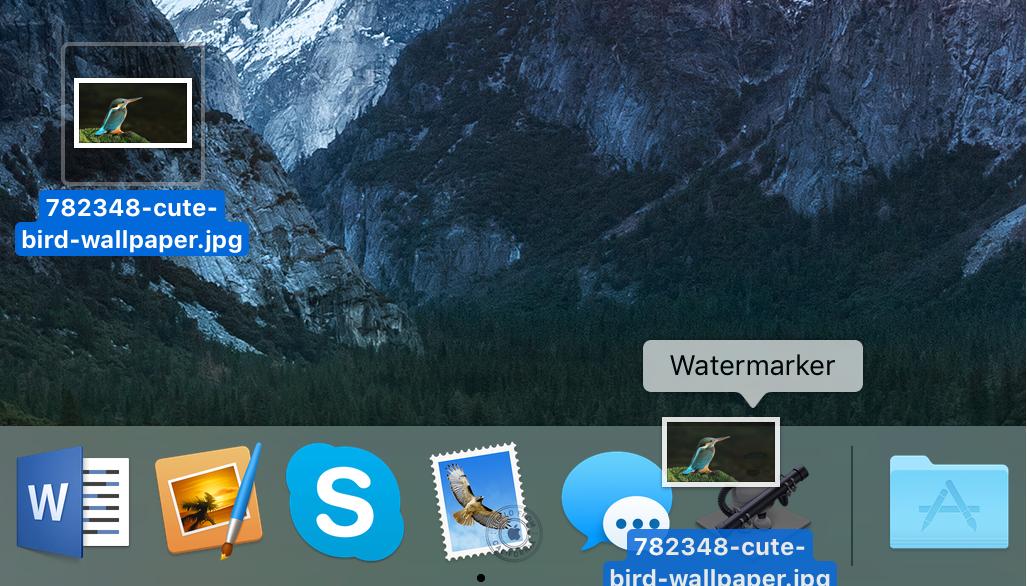 Agregar imagen a Applet Mac de Watermarker