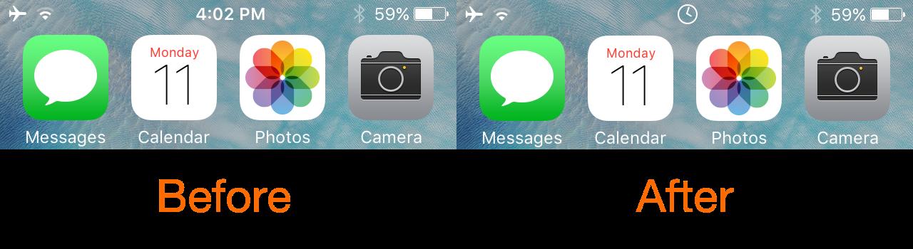 AnalogStatus Analog Clock in iOS Status Bar