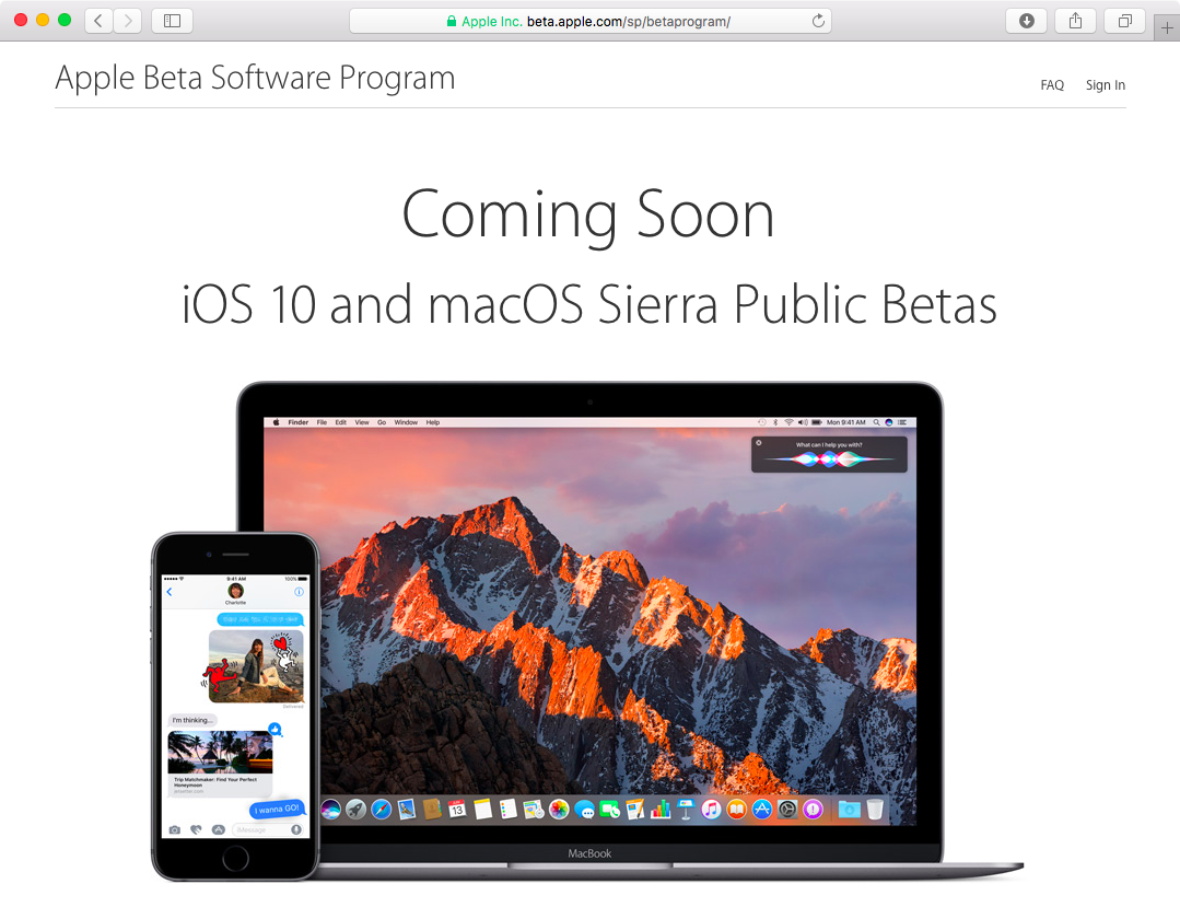 Apple Beta Software Program iOS 10 coming soon web screenshot 001