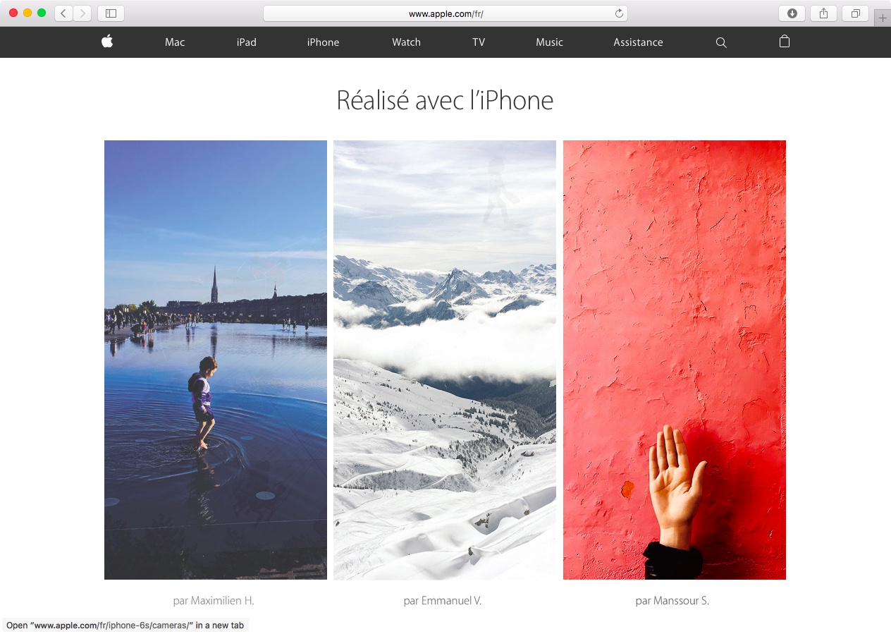 Apple France website Bastille Day web screenshot 001