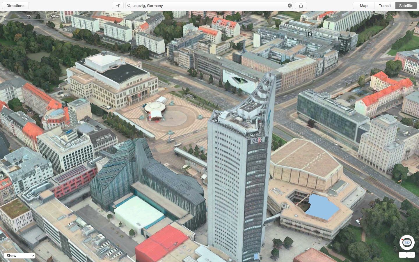 Apple Maps Flyover Leipzig Germany Mac screenshot 001