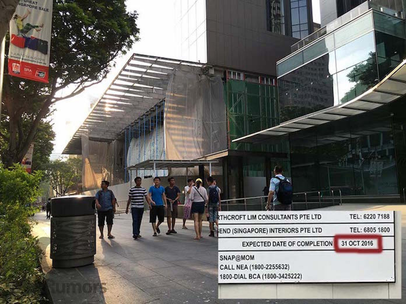 Apple store Singapore construction