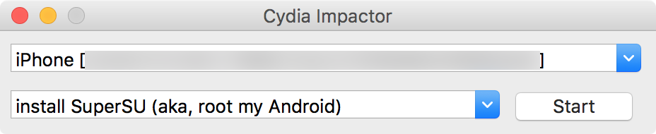 Cydia Impactor Interface iPhone