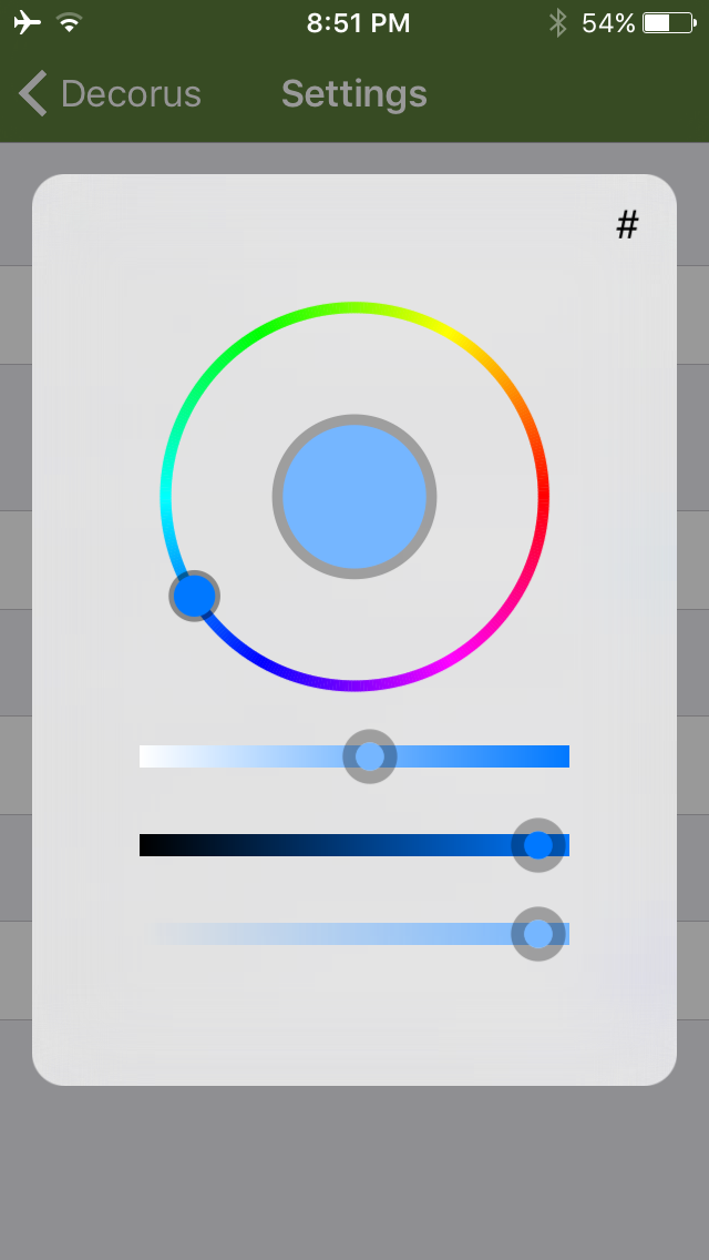 Decorus Settings Color Picker