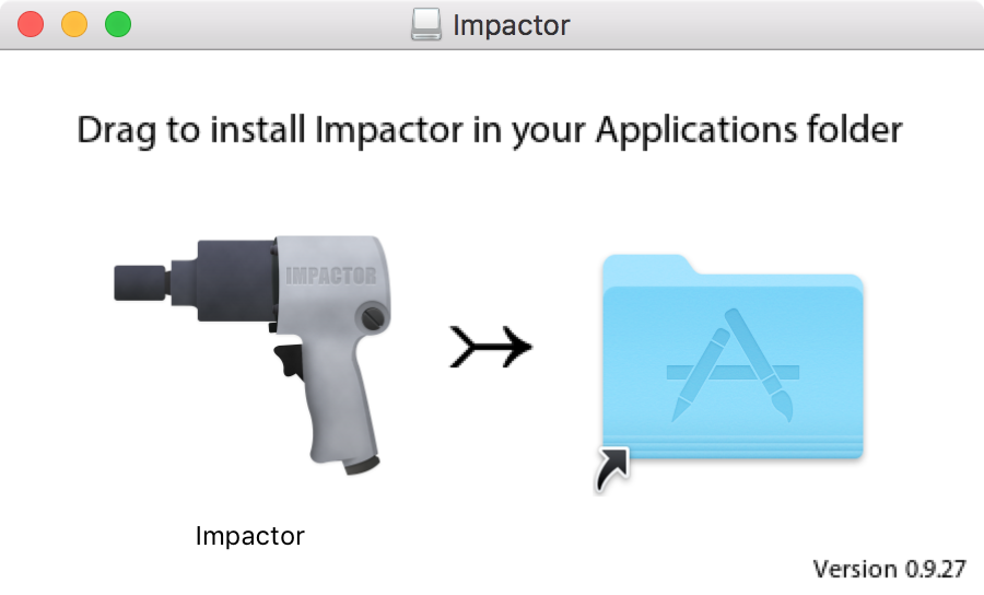 Drag Cydia Impactor to Applications folder