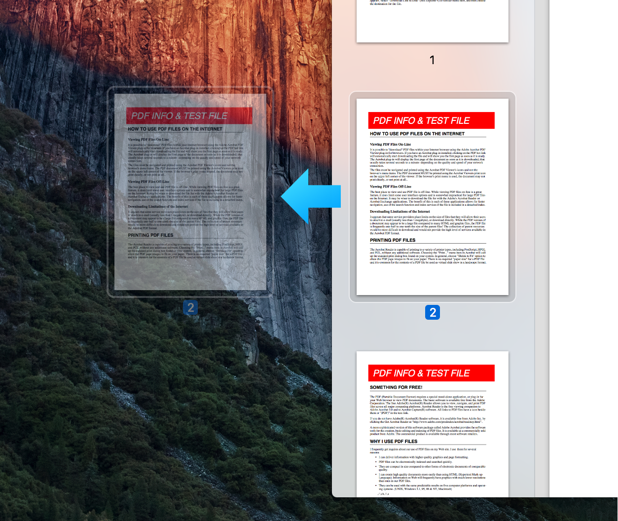 Drag PDF Page - split pdfs mac
