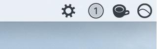 Icono de engranaje en la barra de menú de Mac