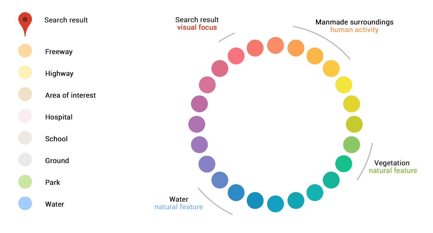 Google Maps for iOS color scheme