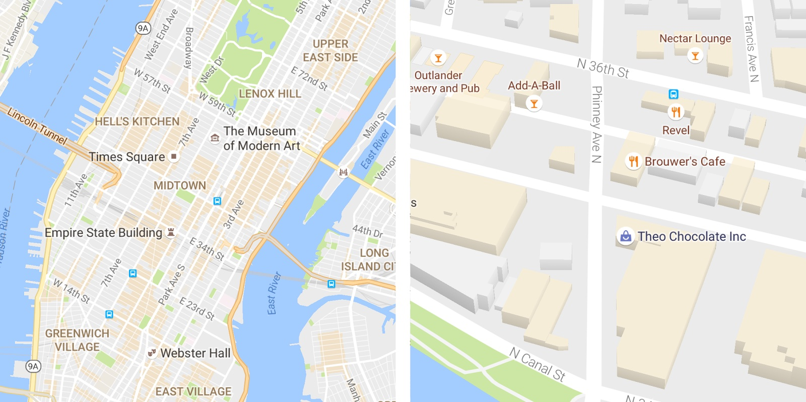 Google Maps for iOS improved typography 001