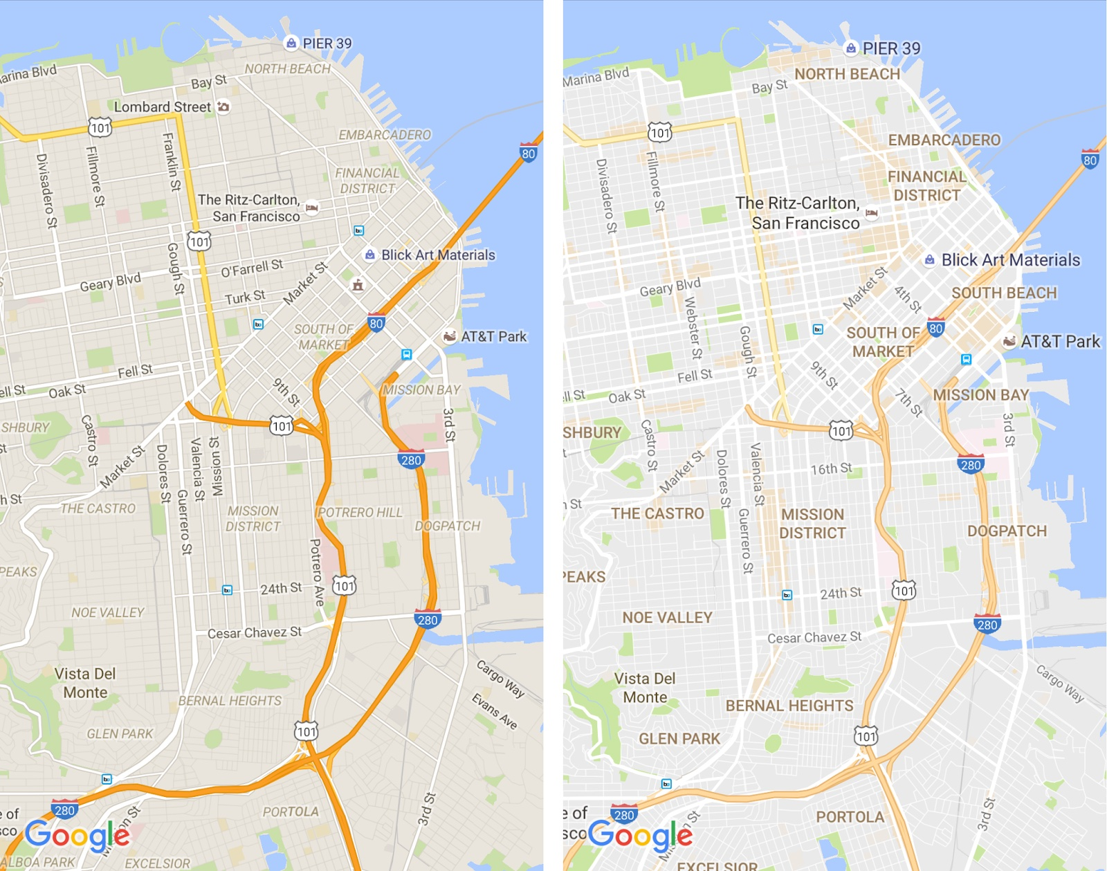 Google Maps for iOS improved typography 002