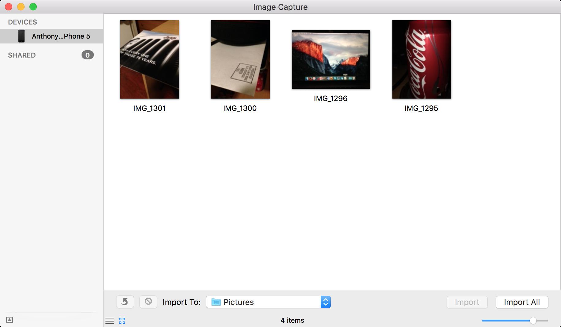 Archivos de captura de imagen eliminados correctamente