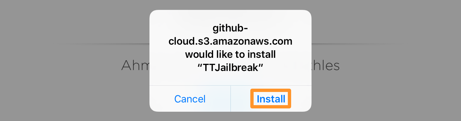 Install TTJailbreak From Web