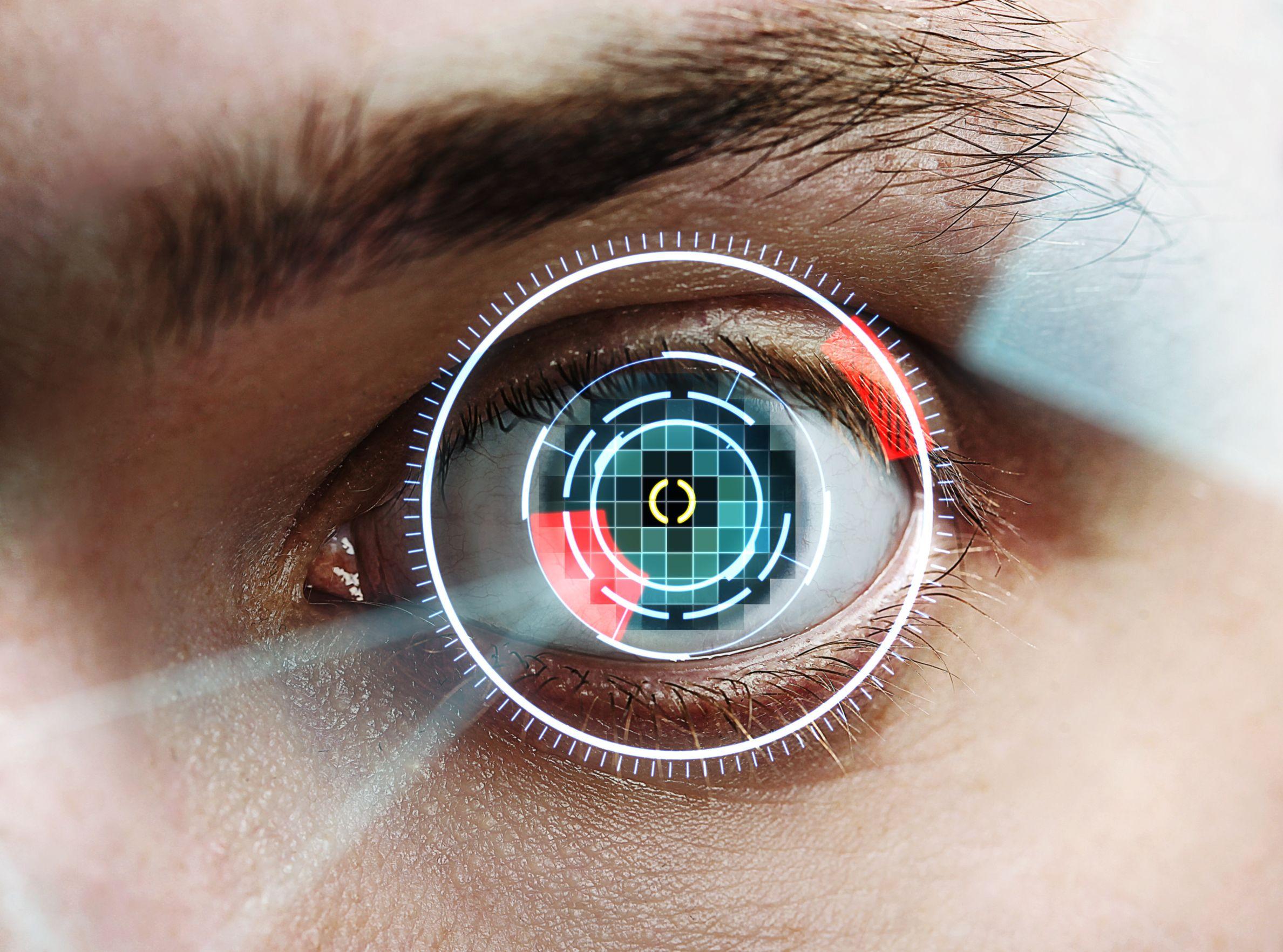 14036251 - laser scanning eye, close up
