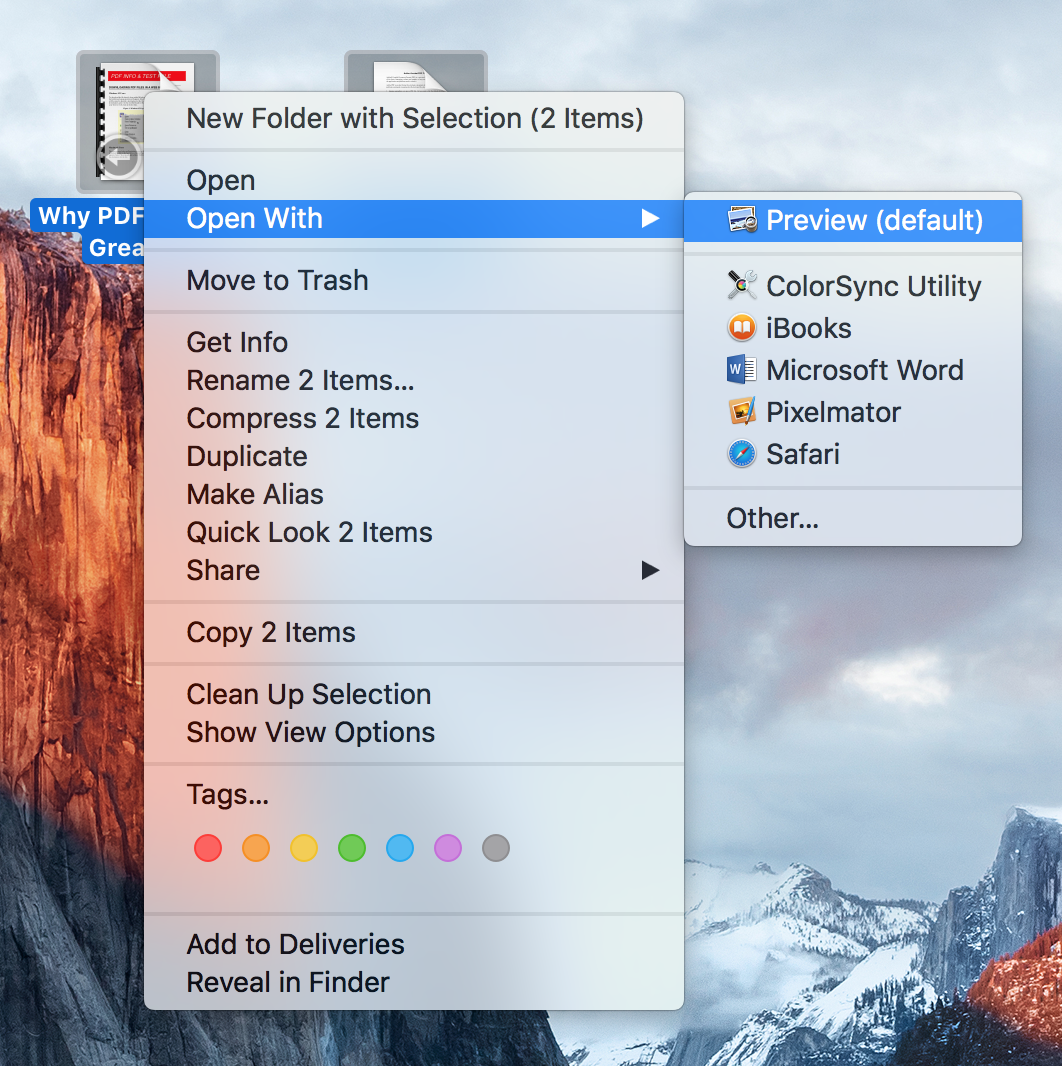 Part 1. The Easy Steps for Opening PDF on macOS 10.14 Mojave Compatible