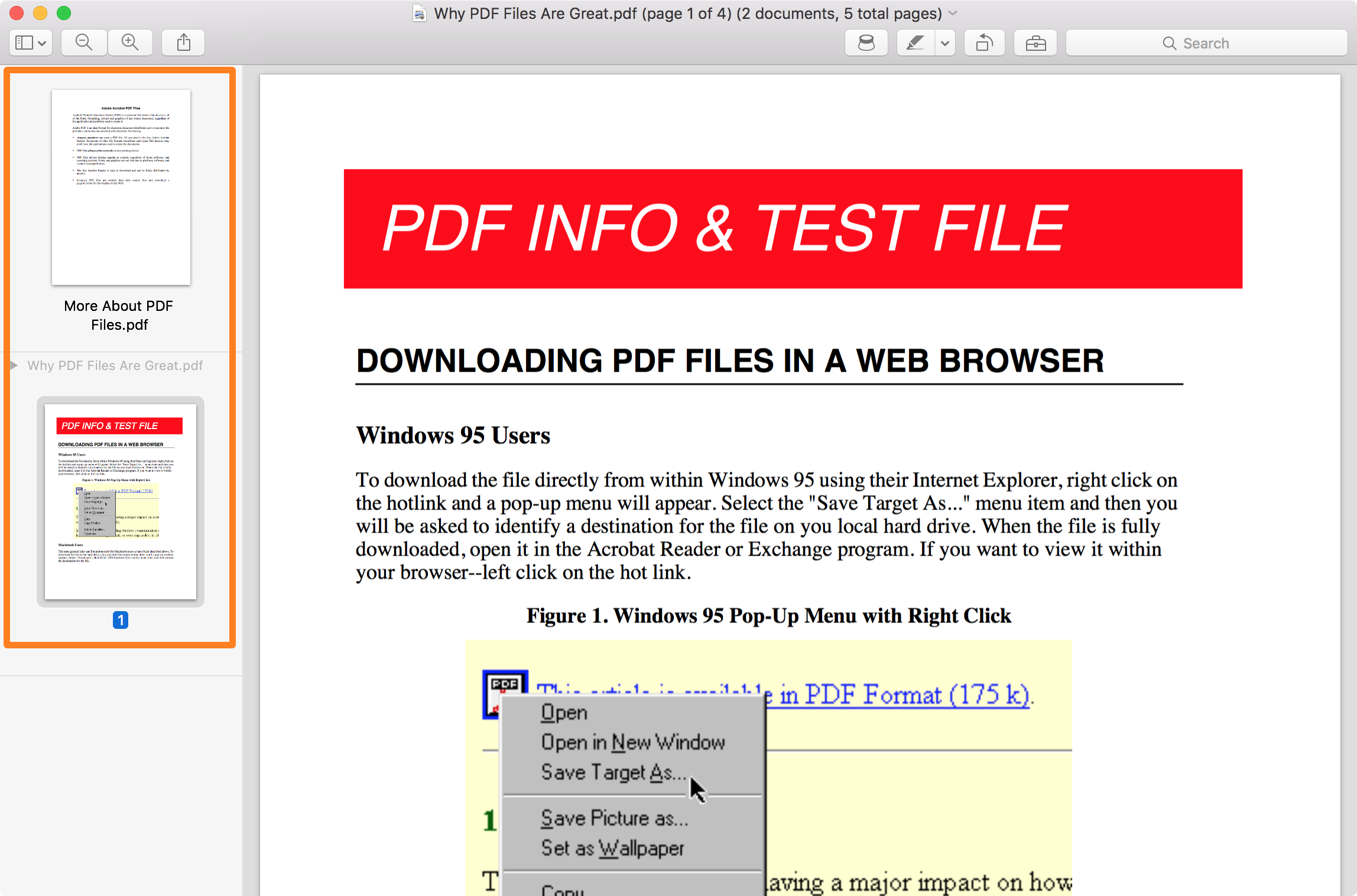 PDF Files Open in Mac Preview App