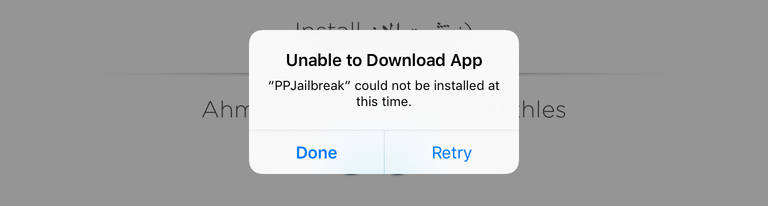 PPJailbreak unable to download app iOS 9.3.3