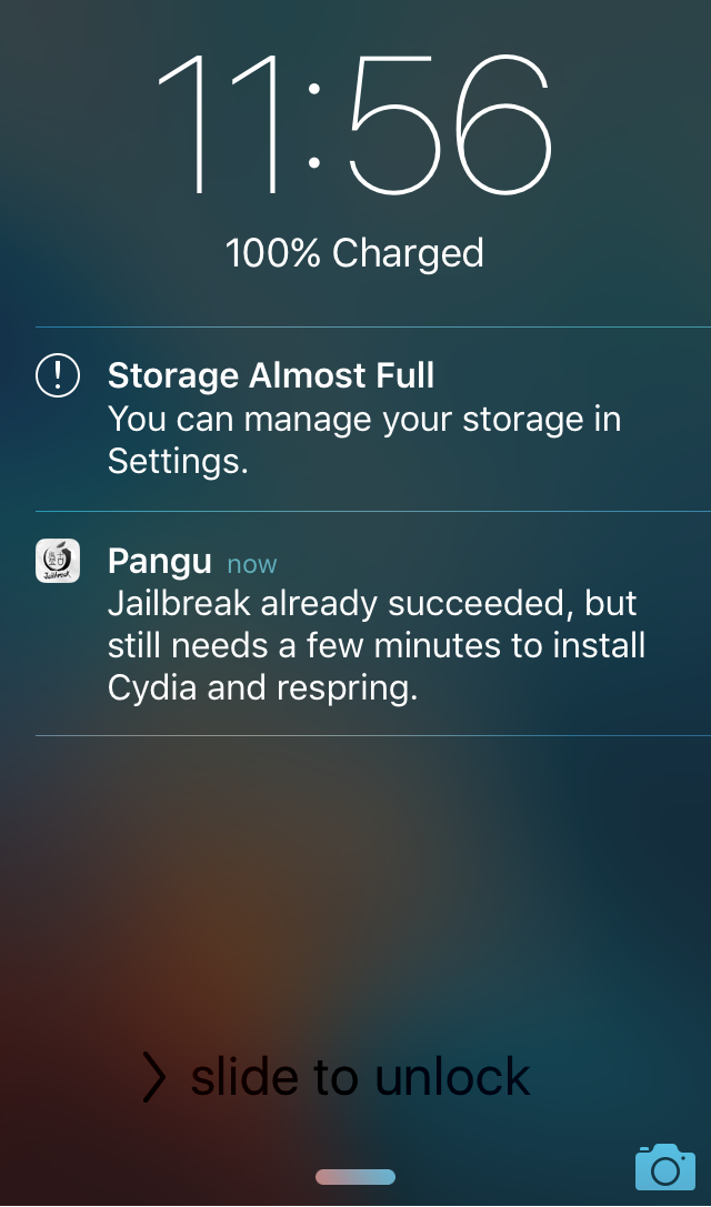 Pangu Jailbreak Lock Screen Notifications