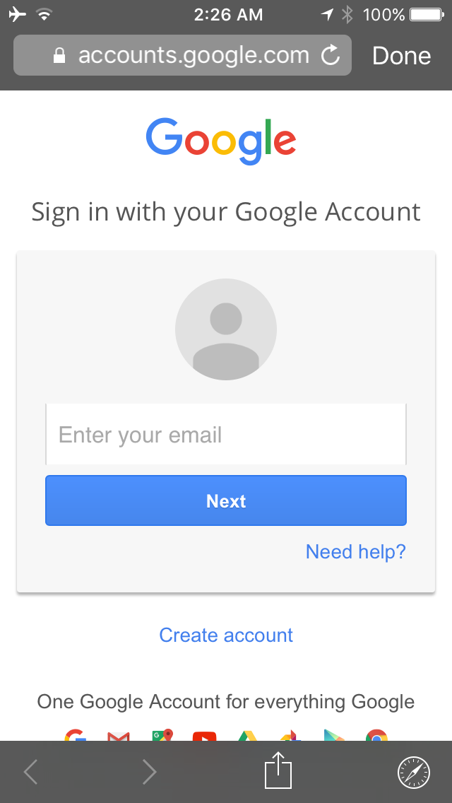 Pokemon GO Google Account Sign in