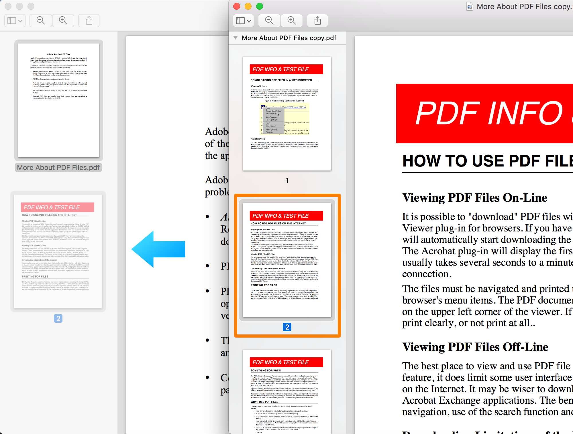 Preview PDF Page Sharking
