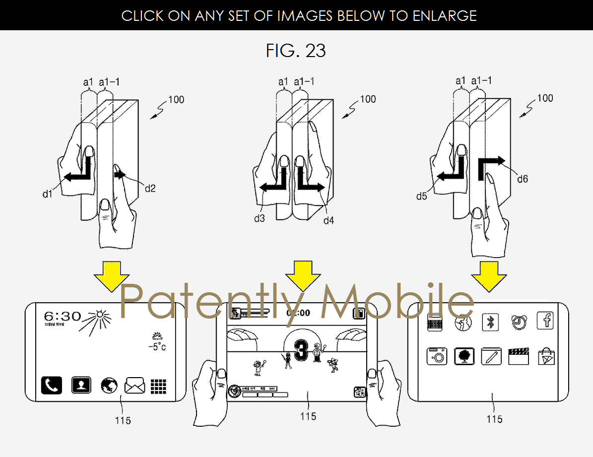 Samsung patent foldable smartphone Patently Apple 001