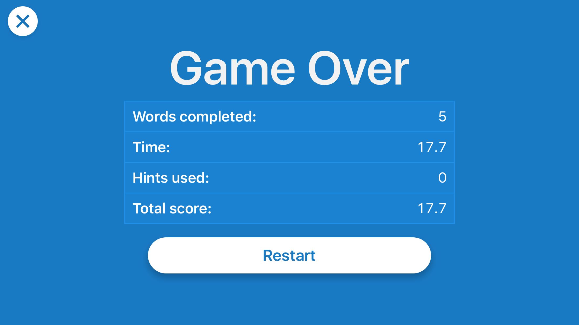 Scrambled Game Timed Run 2