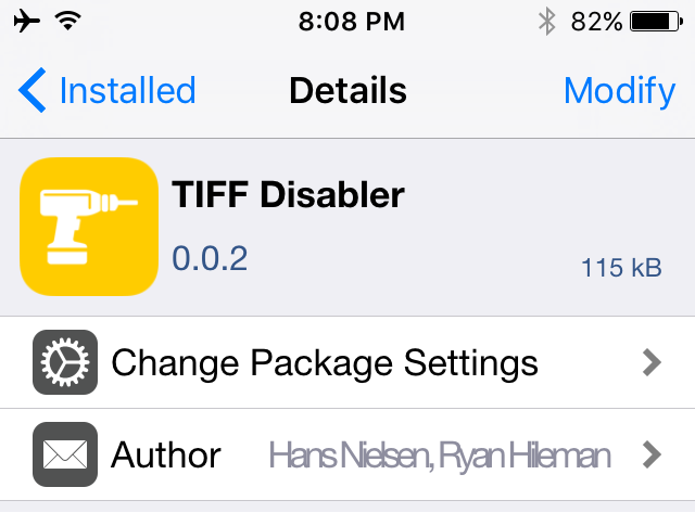 Tiff Disabler