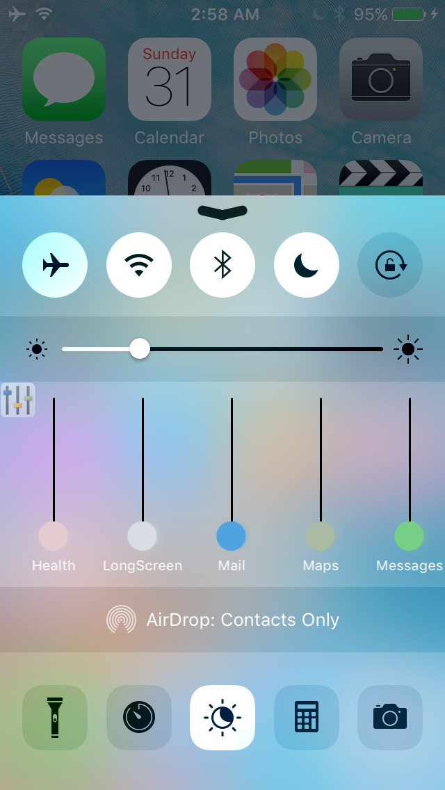 VolumePanel iOS 9.3.3