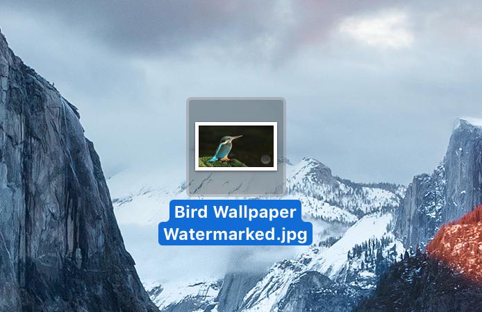 Escritorio Mac de imagen con marca de agua