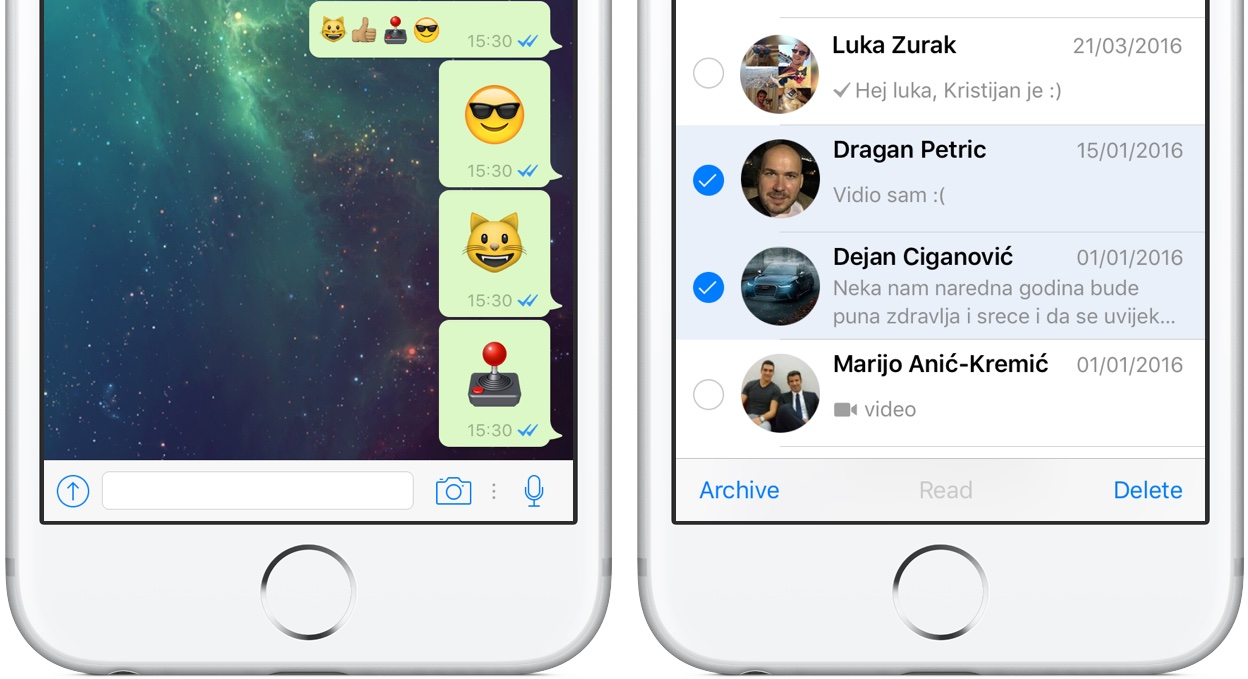 WhatsApp for iPhone larger emoji