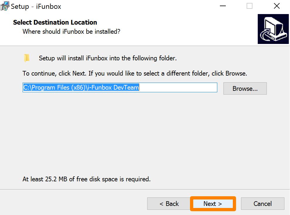iFunbox Install Path Next