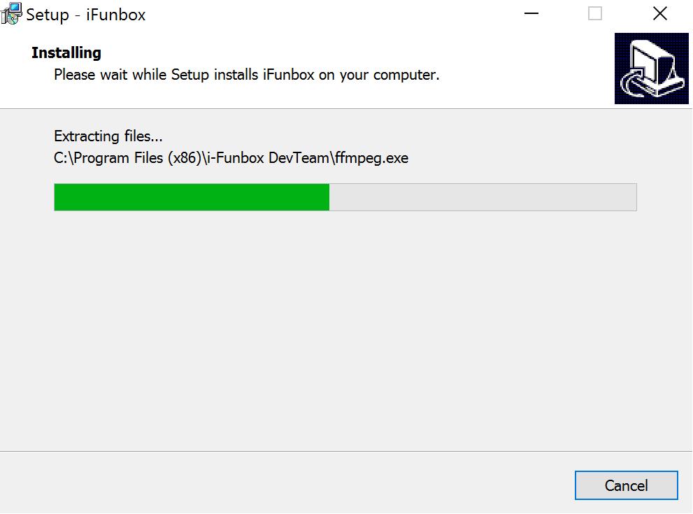 iFunbox Installing Progress Bar