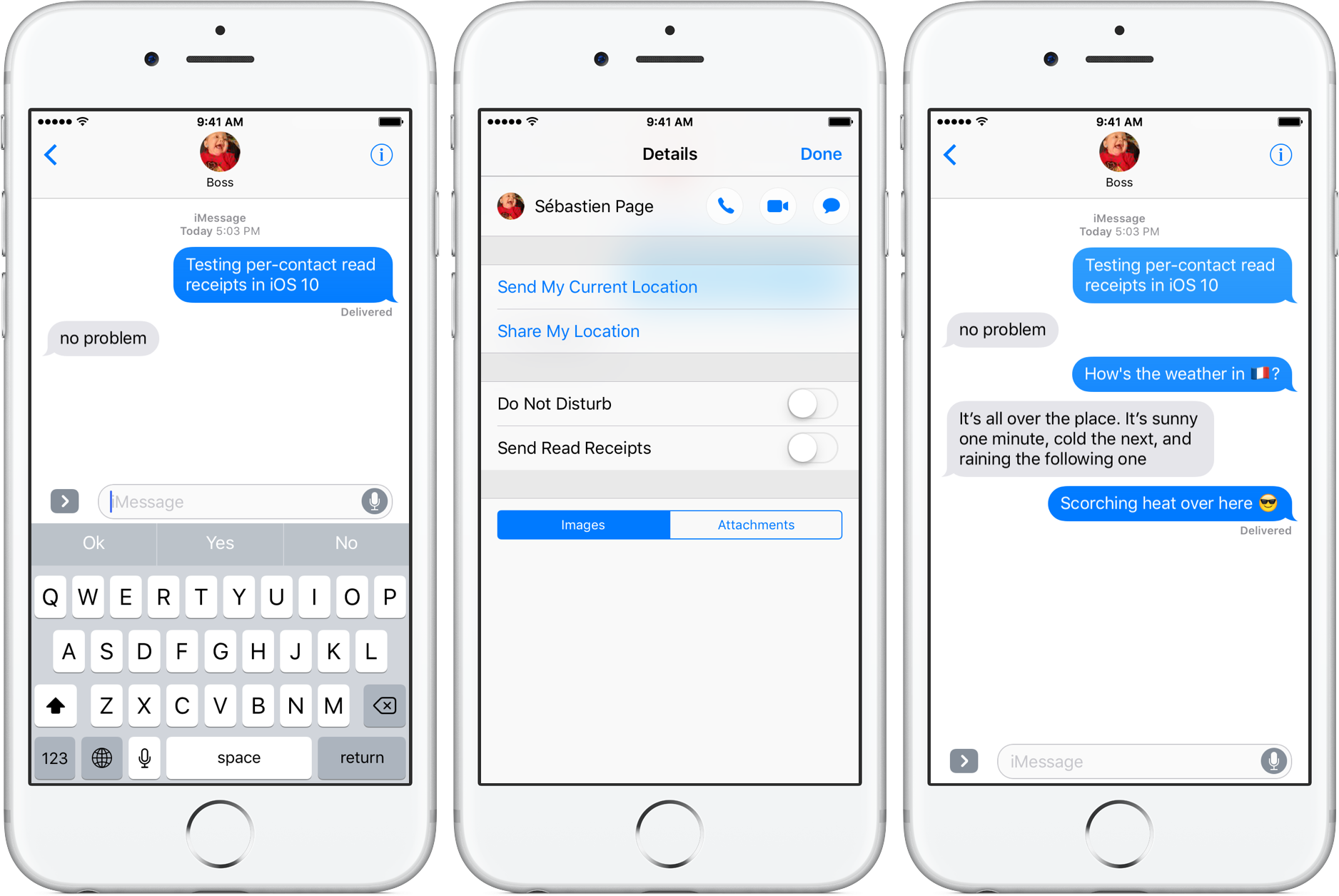 iOS 10 Read Receipts per-contact silver iPhone screenshot 001