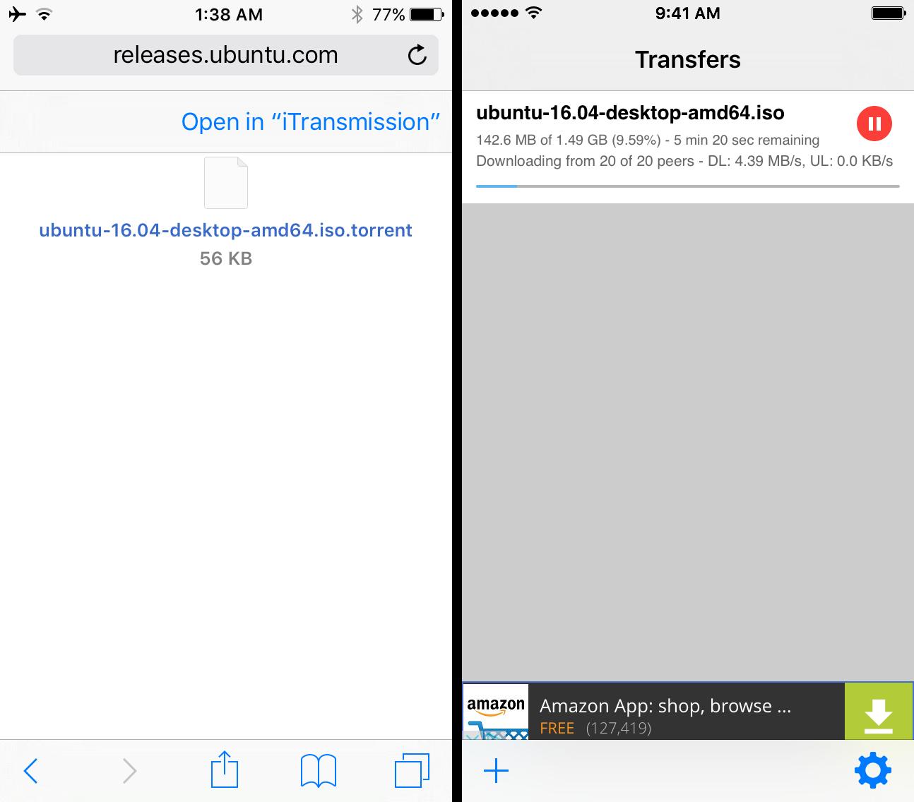 iTransmission via Safari