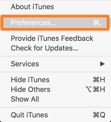 Preferencias de iTunes