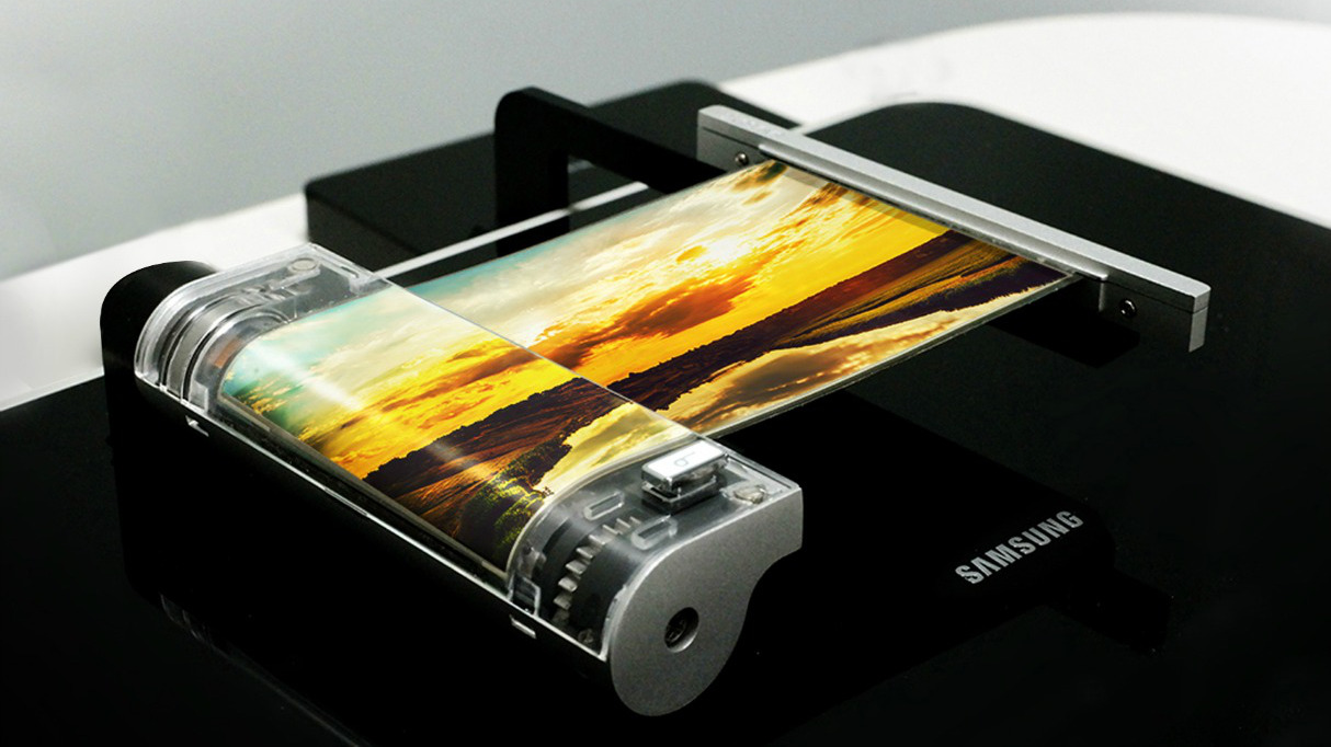 Flexible OLED panel made by Samsung Display