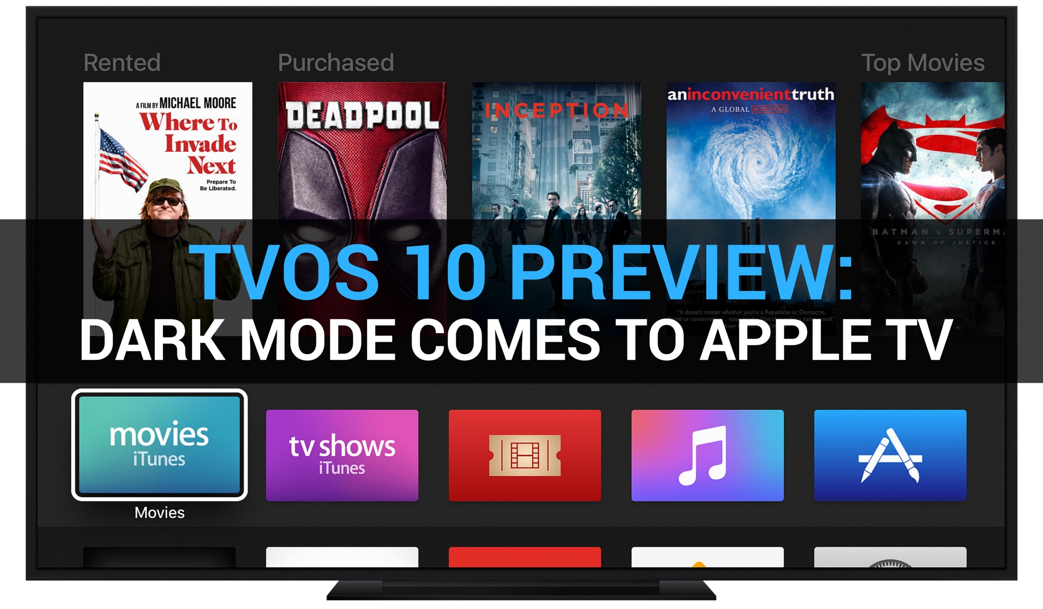 tvOS 10 Preview Dark Mode teaser 001